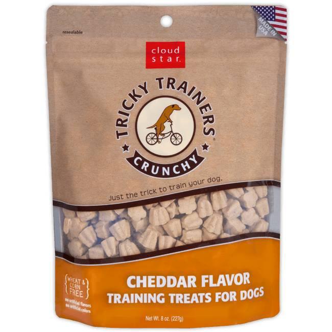 Crunchy Tricky Trainers Dog Treats: Cheddar