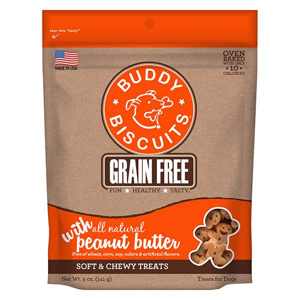 Grain Free Soft & Chewy Treats: Peanut Butter for Dogs