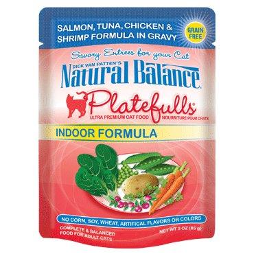 Natural Balance Natural Balance Platefulls Indoor Salmon Tuna Chicken & Shrimp Cat Food