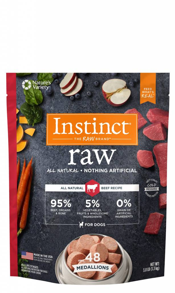 Natures Variety Natures Variety Frozen Raw Dog Food Medallion Beef 3#