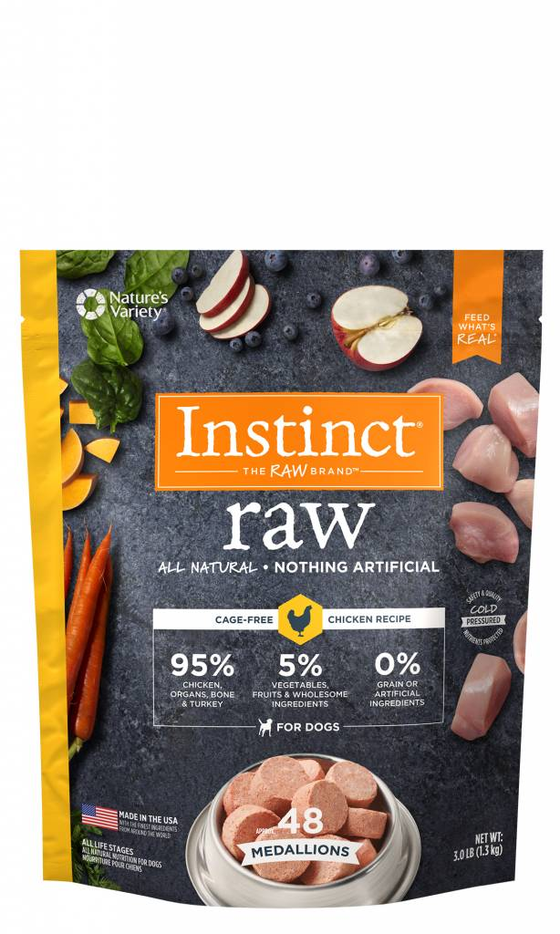 Natures Variety Natures Variety Frozen Raw Dog Food Medallion Chicken 3#