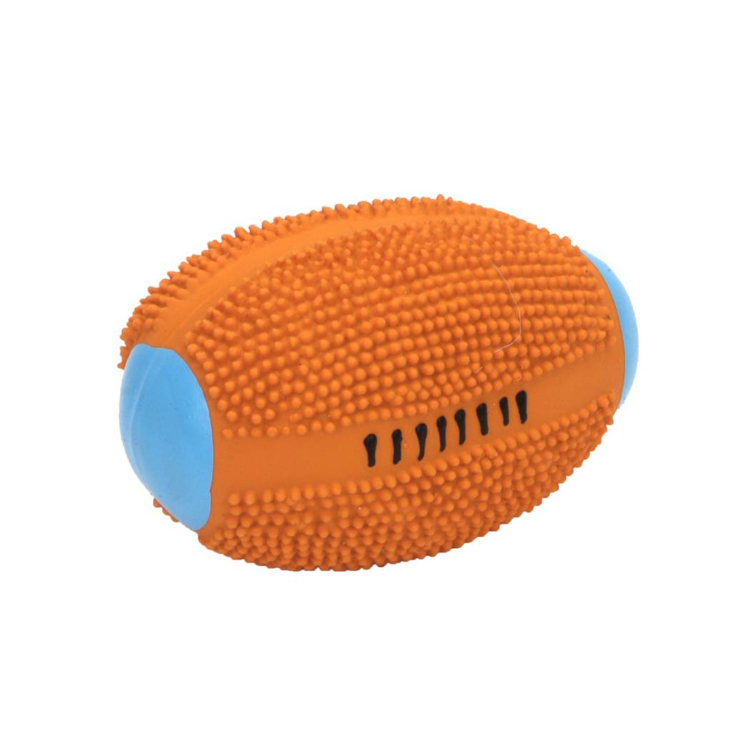 Rascals Rascals 4'' Latex Spiny Football Dog Toy