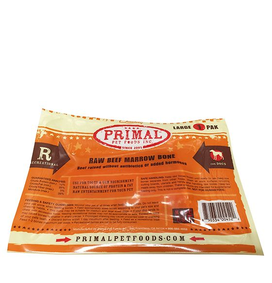 Primal Primal Dog Treat Raw Frozen Marrow Bone Beef