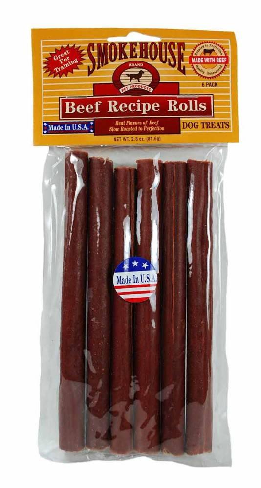 Smokehouse Smokehouse USA Beefy Rolls Dog Treat 6 Pack