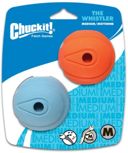 Chuckit! Chuck-It Whistle Ball 2-Pack Dog Toy