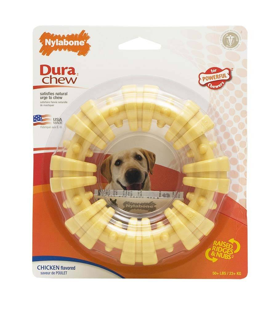 Nylabone Dura-Chew Textured Ring Souper Dog Toy