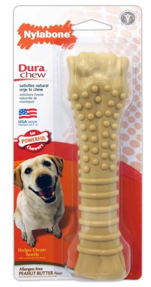 Nylabone Dura Chew Peanut Butter Dog Toy Souper