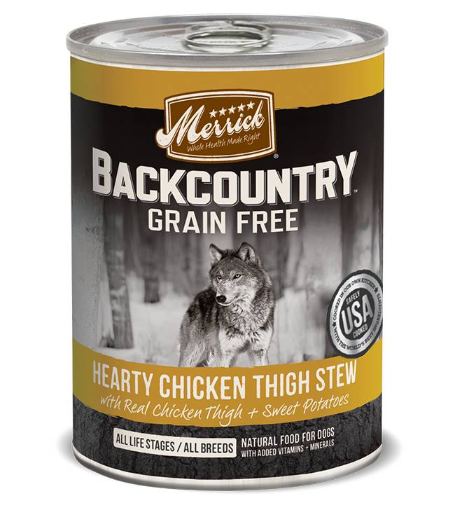 Merrick Merrick Backcountry Chicken Thigh Stew Can Dog Food