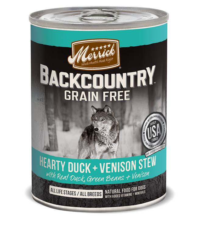 Merrick Merrick Backcountry Duck & Venison Stew Can Dog Food