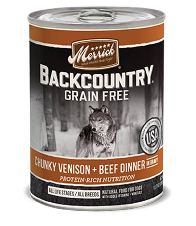 Merrick Merrick Backcountry Chunky Venison + Beef Can Dog Food