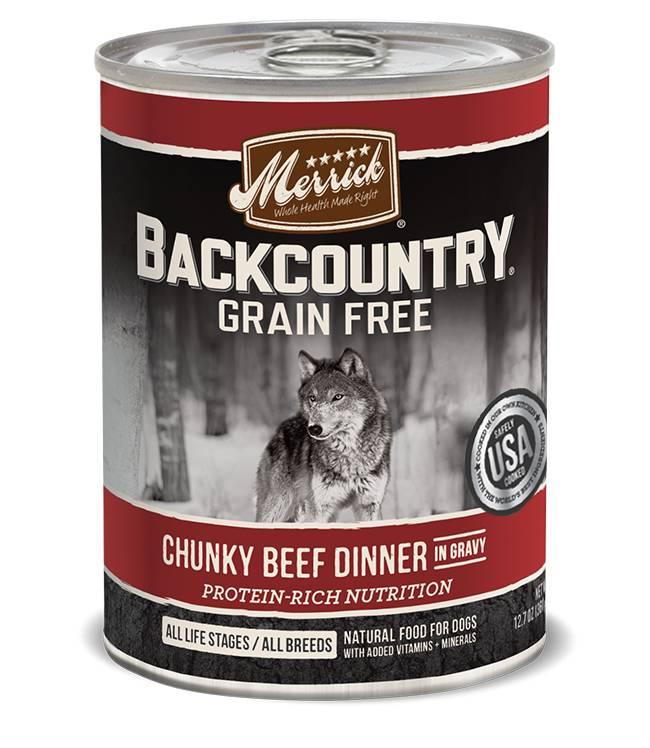 Merrick Merrick Backcountry Chunky Beef Can Dog Food