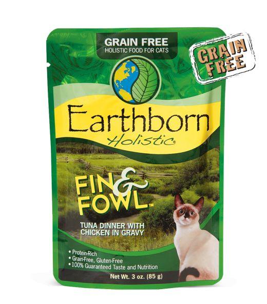 Earthborn Earthborn Cat Grain Free Fin Fowl Tuna Pouch 3 oz.