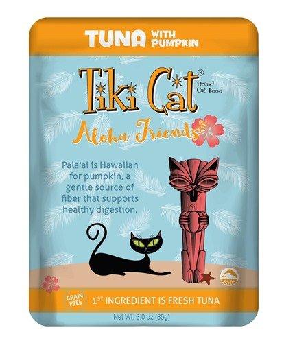 Tiki Tiki Aloha Friends Cat Pouch Tuna Pumpkin 3 oz.