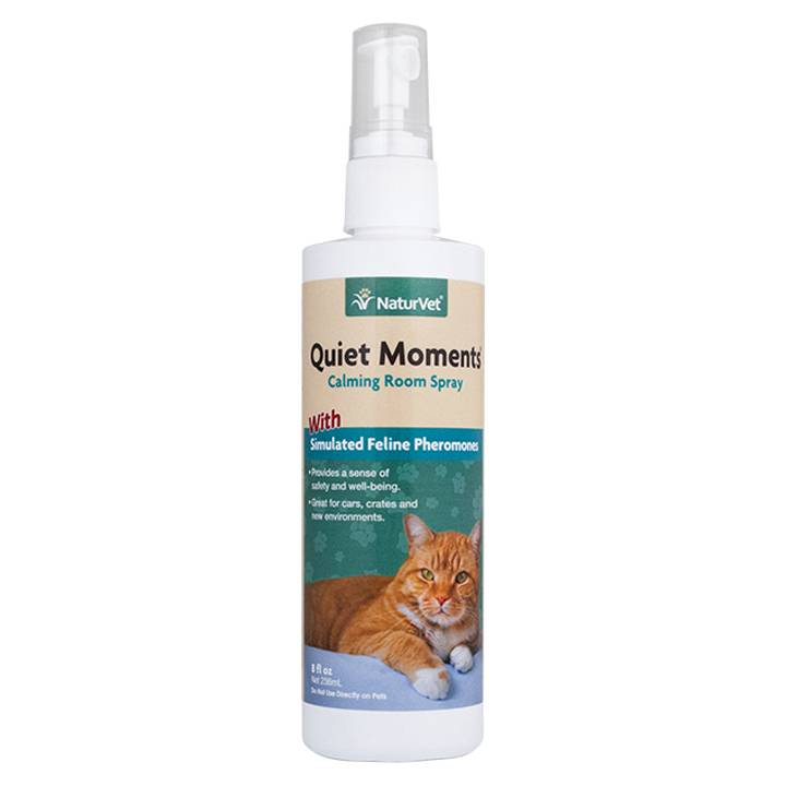 NaturVet NaturVet Quiet Moments Herbal Calming Spray - Feline 8 oz