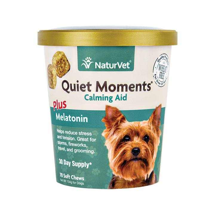 NaturVet NaturVet Quiet Moments Plus Melatonin Soft Chew 70 ct