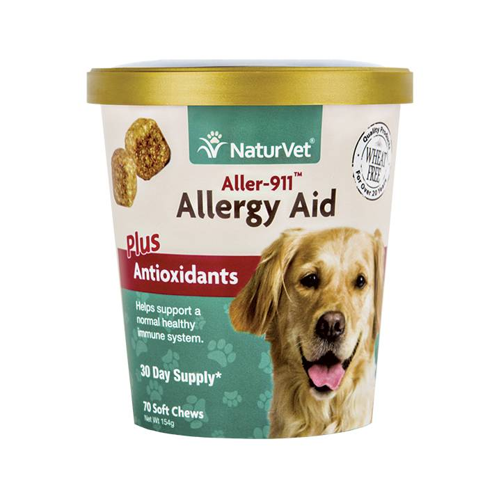 NaturVet NaturVet Aller-911 Allergy Aid Plus Antioxidants Soft Chew 70 ct
