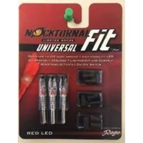 RAGE ARCHERY NOCKTURNAL UNIVERSAL FIT RED HIGH VISIBILITY LED
