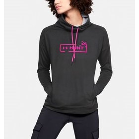 UNDER ARMOUR UNDER ARMOUR WOMEN'S TECH TERRY GRAPHIC FUNNEL NECK