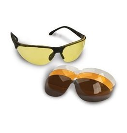 WALKER'S WALKER'S IMPACT RESISTANT INTERCHANGEABLE SPORT GLASSES KIT W/ 4 LENSES