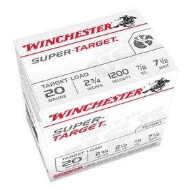 "WINCHESTER WINCHESTER SUPER-X TARGET  20GA 2.75"" 7/8""  7 1/2 SHOT 25 RDS"