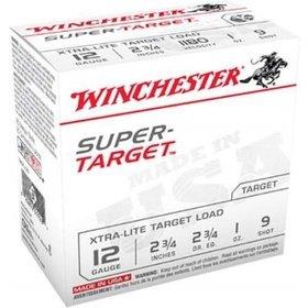 "WINCHESTER WINCHESTER SUPER TARGET 12 GA 2 3/4"" 1OZ #9 25 RDS"