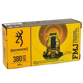 BROWNING BROWNING 380 AUTO 95 GR FMJ 50 RDS