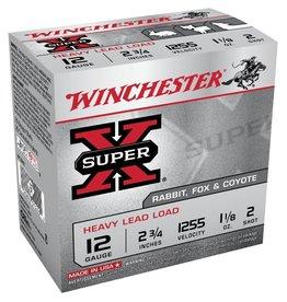 """WINCHESTER WINCHESTER SUPER X 12 GA 2-3/4"""" #2 SHOT RABBIT FOX & COYOTE"""