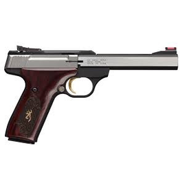 BROWNING BROWNING BUCK MARK PISTOL .22 LR MEDALLION ROSEWOOD STAINLESS FO