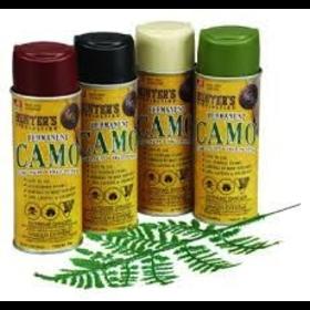 HUNTER SPECIALTIES HUNTER'S SPECIALTIES PERMANENT CAMO SPRAY PAINT KIT 4 CANS/1 LEAF STENCIL