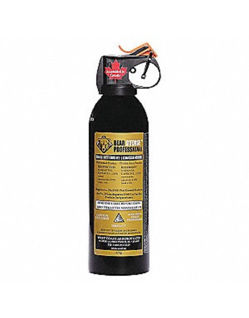 BEAR D'FENSE PROFESSIONAL BEAR SPRAY 1% 325 GR. DELUXE