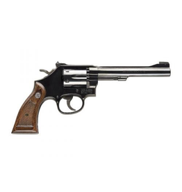 "SMITH & WESSON SMITH & WESSON MODEL 17 MASTERPIECE 22 LR 6"" BBL 6 SHOT BLU/BLK"