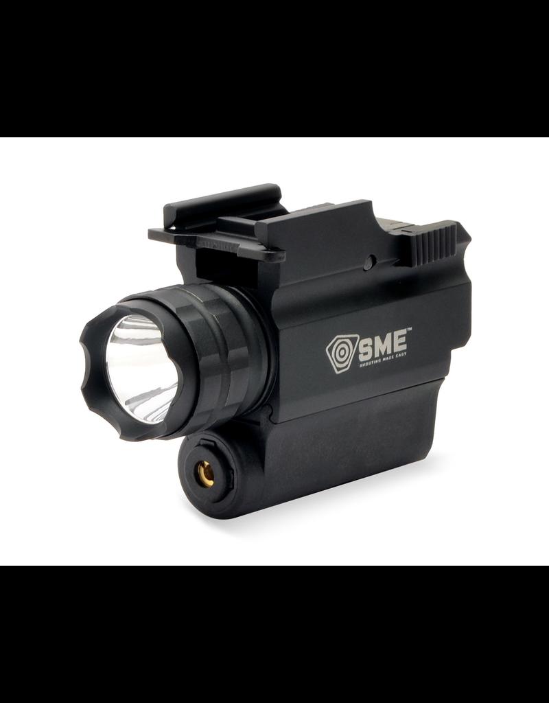 SME TACTICAL HANDGUN LED LIGHT W/ RED LASER