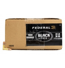 FEDERAL FEDERAL BLACK PACK C.22 LR 36 GR CPRN 1600 RDS