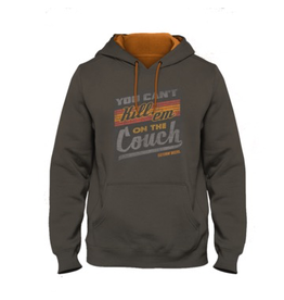 CATCHIN' DEERS CATCHIN' DEERS CAN'T KILL 'EM ON THE COUCH HOODIE