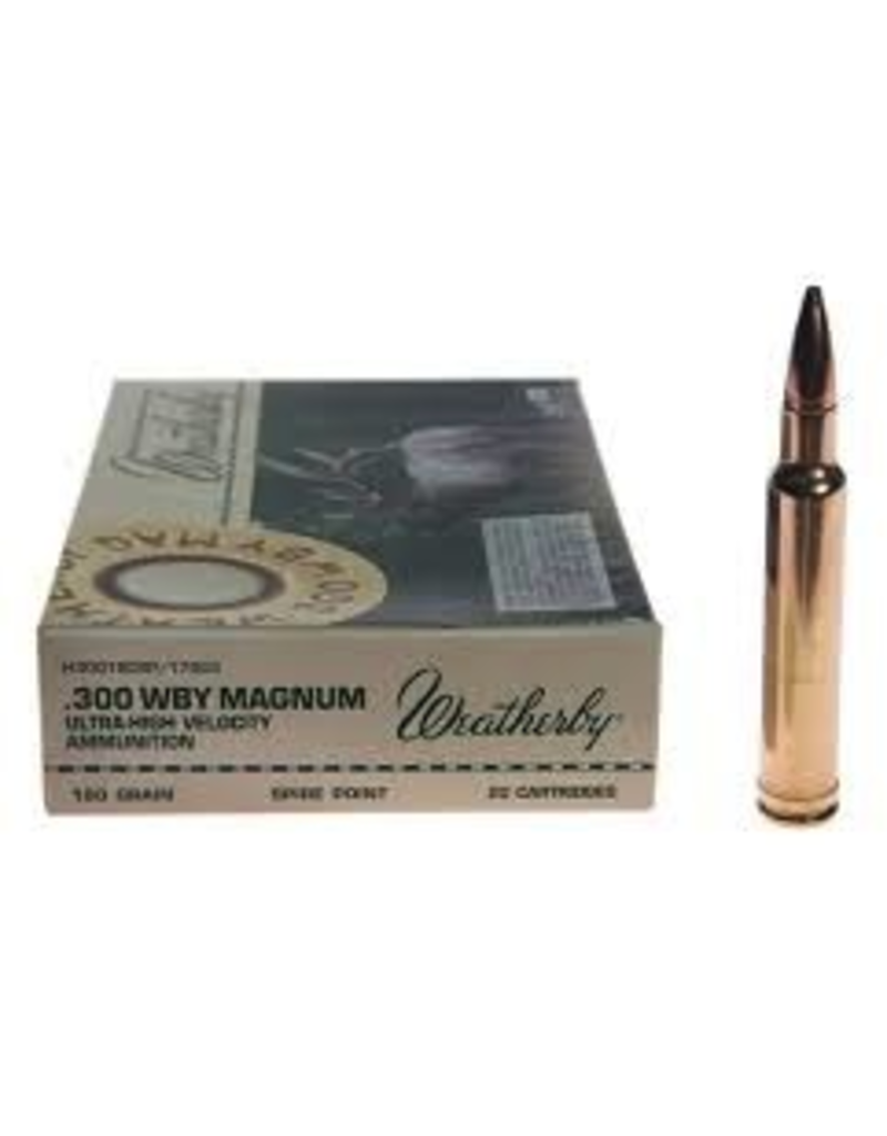 WEATHERBY WEATHERBY .300 WBY MAGNUM 180GR SPITZER 20 RDS