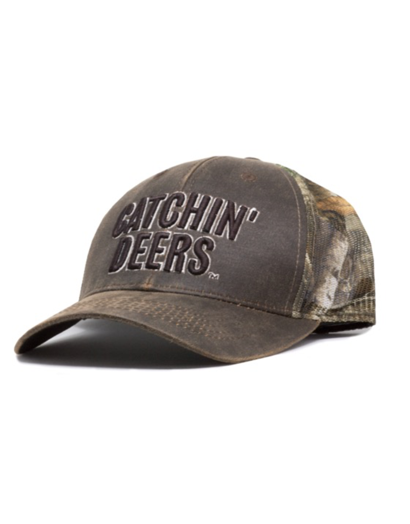CATCHIN' DEERS CATCHIN' DEERS REALTREE CANVAS LOGO