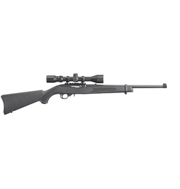 """RUGER RUGER 10/22 SEMI AUTO RIFLE 22 LR 18.5"""" BBL 3-9X40 SCOPE"""