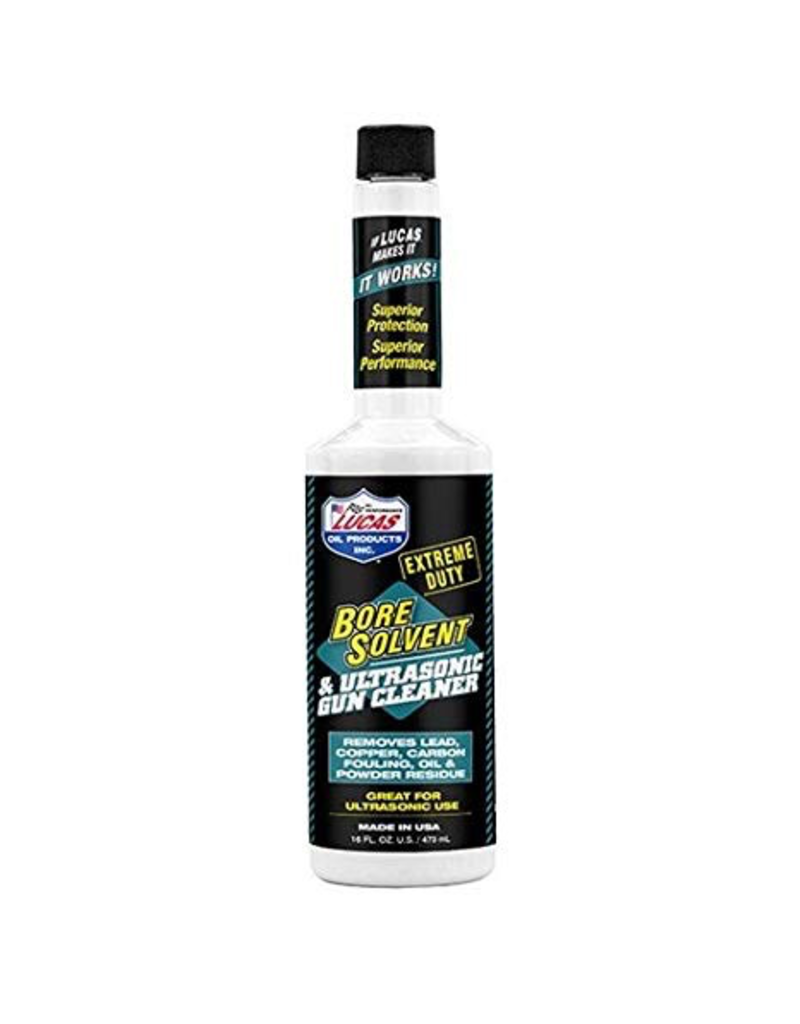 LUCAS EXTREME DUTY BORE SOLVENT & ULTRASONIC GUN CLEANER 16OZ