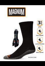 MAGNUM CREW SOCK 3 PK BLACK SIZE 9-12