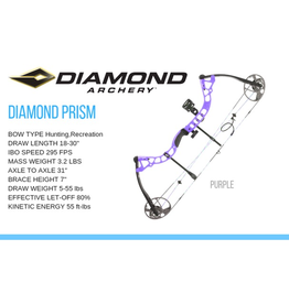 DIAMOND DIAMOND PRISM LH 5-55# PURPLE