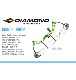 DIAMOND DIAMOND PRISM 5-55# NEON GREEN LH