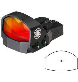 SIG SAUER SIG SAUER ROMEO1 REFLEX SIGHT 1X30MM 3 MOA RED DOT 1.0 MOA ADJ BLACK