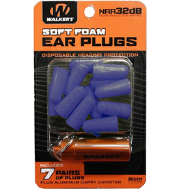 WALKER'S WALKER'S SOFT FOAM EAR PLUGS 7 PRS
