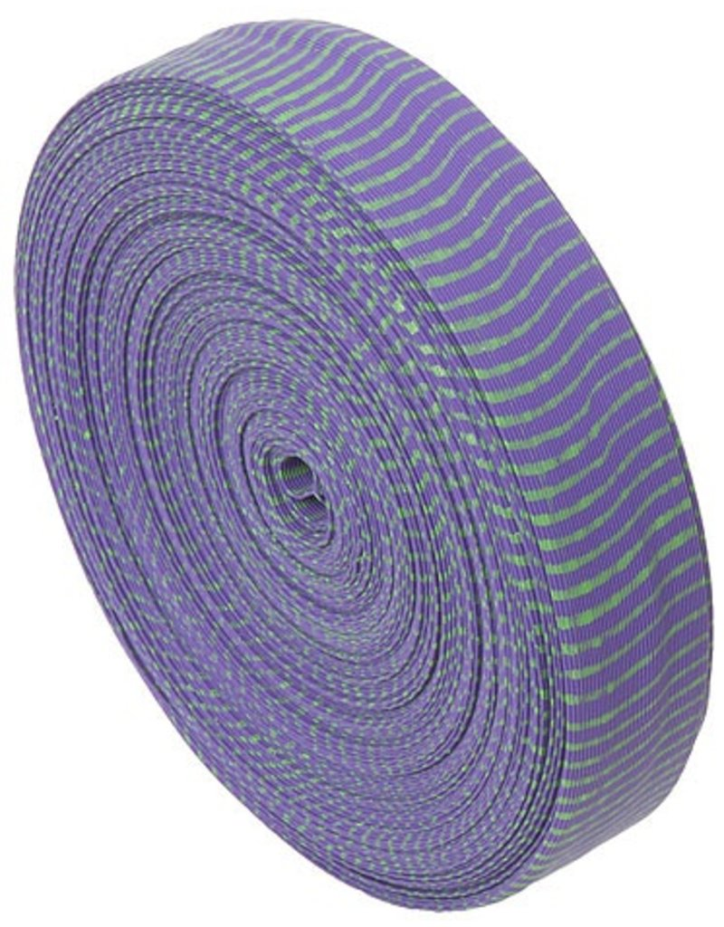 """BROMLEY BROMLEY OMP VIBE STRING SILENCER 85"""" ROLL PURPLE AND GREEN"""
