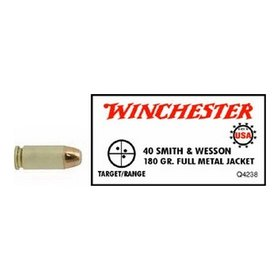 WINCHESTER WINCHESTER 40 S&W 180GR FMJ 50 RDS