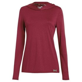 UNDER ARMOUR UNDER ARMOUR WOMEN'S LONG SLEEVE BURGUNDY LARGE