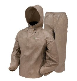 FROGG TOGGS FROGG TOGGS ULTRALITE RAIN SUIT KHAKI 2X-LARGE