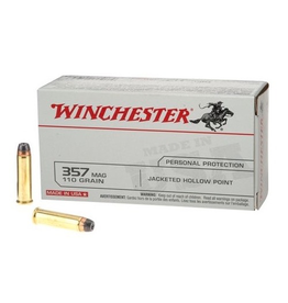 WINCHESTER WINCHESTER 357 MAG 100GR JACKETED HOLLOW POINT 50 RDS