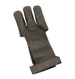 NORTH AMERICAN HUNTING NORTH AMERICAN HUNTING TRADITIONAL LEATHER SHOOTERS GLOVE DARK BROWN X-SMALL
