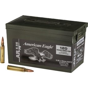 FEDERAL FEDERAL AMERICAN EAGLE 5.56MM NATO 55GR FMJ-BT M193 120CT